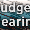 Graphic budget hearing text