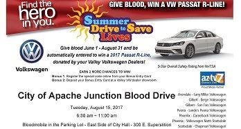 Next Blood Drive - Aug. 15