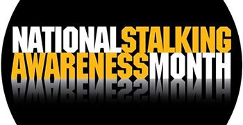 Stalking Awareness graphic