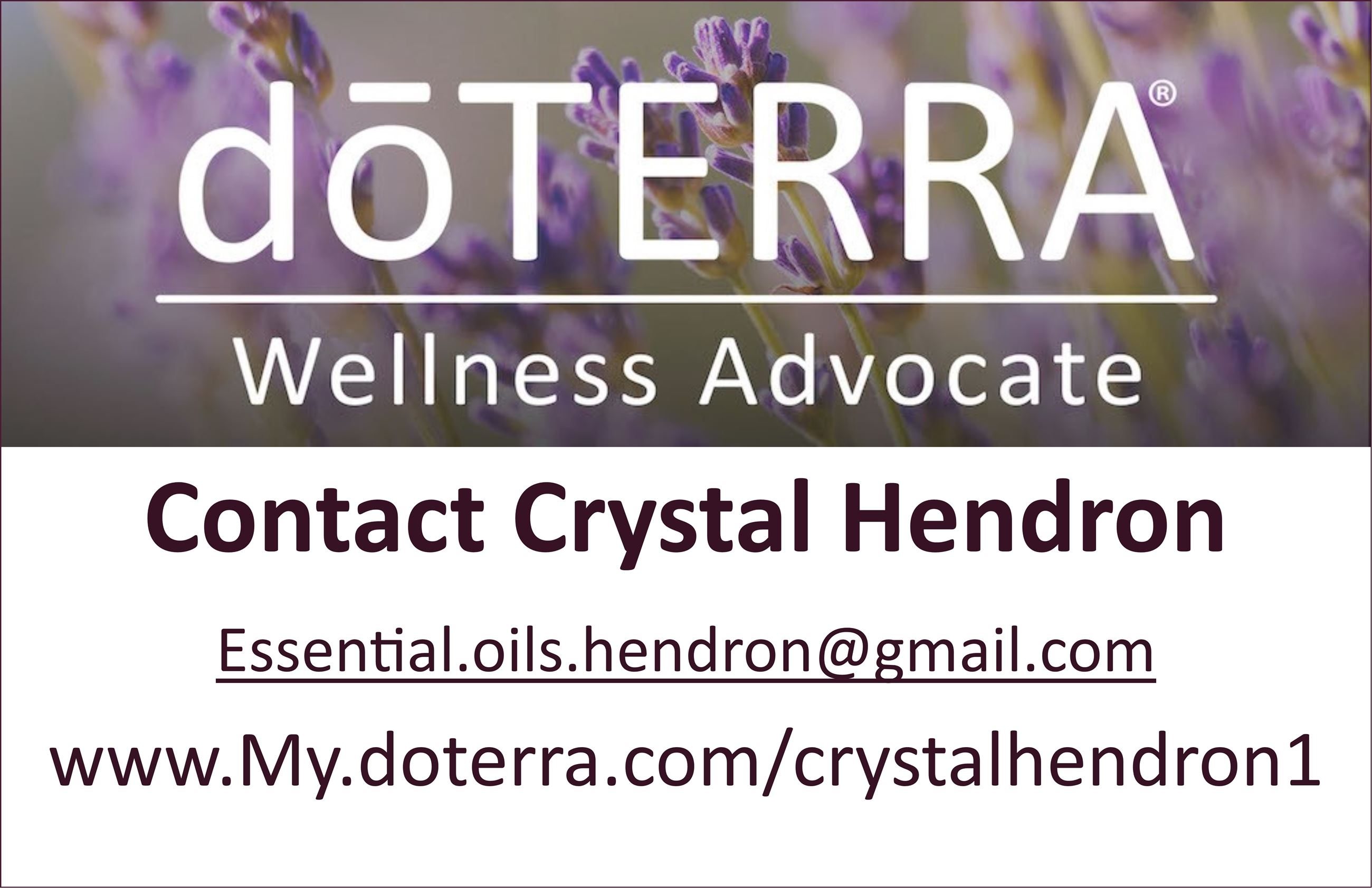 doTerra Wellness Advocate - Crystal Hendron